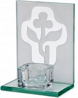 Glaskreuz stehend für Teelicht