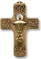 Wandkreuz - Der Herr segne euch, bronze