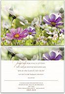 Geburtstagskarte Blumen neutral