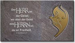 Schiefertafel - Engel/Taube