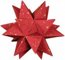 Aurelio Stern Set rot, mit goldenen Sternchen