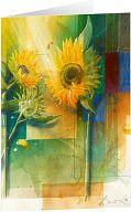 Kunst-Faltkarte - Sonnentag