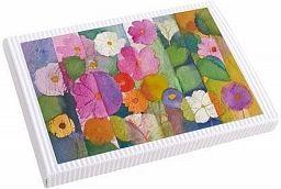 10erSet Kunst-Faltkarten im Karton, Blütenreigen