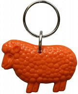 Schlüsselanhänger Schaf, orange