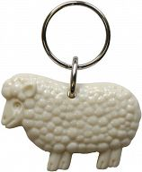 Schlüsselanhänger Schaf, weiß