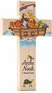 Holzkreuz bunt bedruckt, Arche Noah