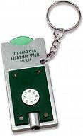 LED-Schlüsselanhänger mit Einkaufchip, grün