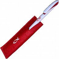 Kugelschreiber Filzetui - rot