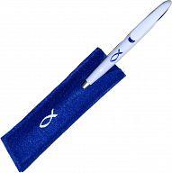 Kugelschreiber Filzetui - blau