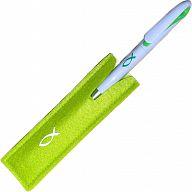 Kugelschreiber Filzetui - grün