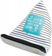 Handy Sitzsack mit Spruch und Streifen