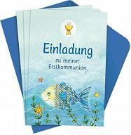 8erSet Der Wunschfisch - Einladungskarten