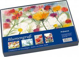 Karten-Set mit Box - Blumengruß