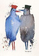 Kunstkarte Amsel und Drossel