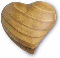 Großes Holz-Herz asymmetrisch, mit Maserung