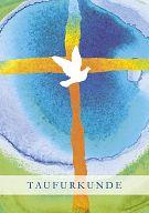 10erSet Taufmotiv Taube, Taufurkunde für Kinder