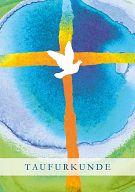 10erSet Taufmotiv Taube, PC-Taufurkunde für Erwachsene