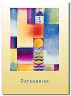 10erSet Patenbrief PC Karte mit Einlegeblatt