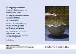 10erSet Taufurkunde für Kinder Motiv Taufbecken