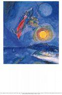 Einlegeblatt Liebespaar in Barke, Chagall