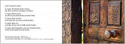 Besuchsdienst-Karte: Haussegen blanko