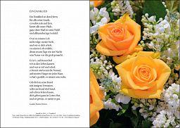 Urkunde Diamantene Hochzeit: Rosenstrauß
