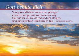 """Leipziger Spruchkarte """"Geborgen"""" Dietrich Bonhoeffer"""