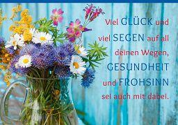 Leipziger Spruchkarte: Gesundheit und Frohsinn