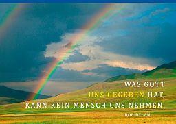 """Leipziger Spruchkarte """"Was Gott gibt"""""""