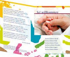 """Leipziger Geburtskarte """"Kleine Hand"""" - zur Geburt"""