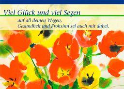 Leipziger Gratulationskarte: Glück und Segen