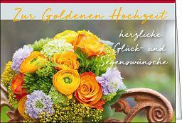 Leipziger Spruchkarte: Goldene Hochzeit
