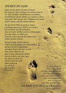 Spuren im Sand Faltkarte mit Umschlag