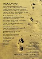 12erSet Spuren im Sand -Postkarte
