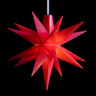 Leuchtstern - Baby-Stern 8cm rot