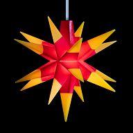 Leuchtstern - Baby-Stern 8cm rot/gelb