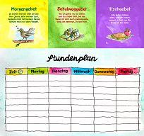Überraschungsquadrat Schulanfang mit Stundenplan