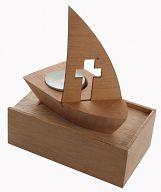 Holz-Schiff aus Kiefernholz, ohne Holzbox