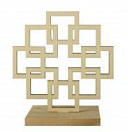 Facettenkreuz aus Holz