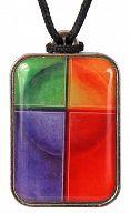 Farbkreuz Lebensfarben Anhänger