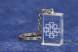 Schlüsselanhänger - Kristall-Facettenkreuz