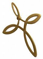 Ichthys-Kreuz-Pin golden, Anstecker mit 4 Fischen
