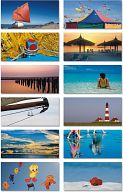"Motivkarten-Blöcke ""Meer"", Foto-Postkartenblock"