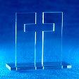 Standkreuz aus Acryl, Licht und Schatten, 11 cm hoch