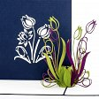 Pop-Up Karte - Tulpen, blau