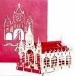 Pop-Up Karte - Hochzeitskirche, rot