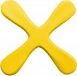 Soft-Bumerang, gelb