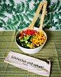 Salatbesteck Bambus