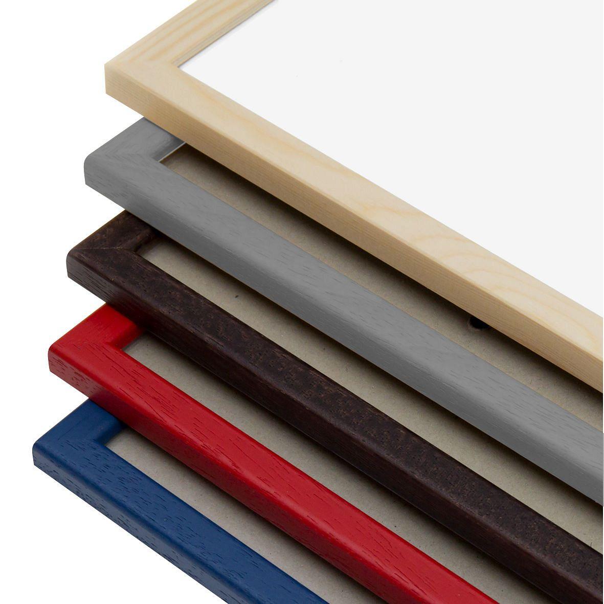 bilderrahmen aus holz natur a4 mit profilleiste kaufen. Black Bedroom Furniture Sets. Home Design Ideas
