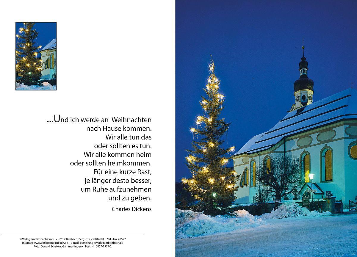 Weihnachtskarte kirche charles dickens kaufen - Christliche weihnachtskarten ...